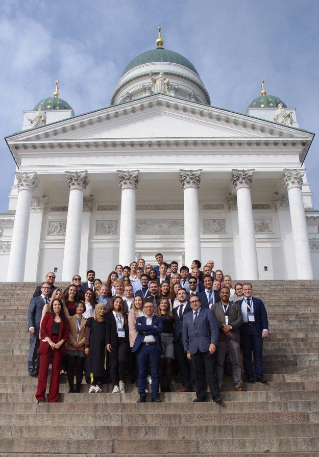 Účastníci ECSL Letnej školy v roku 2018 vo fínskej metropole Helsinki